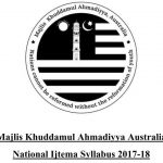 MKA National Ijtema Syllabus 2018